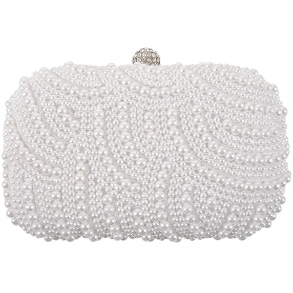 fashion clutch bag beaded party bridal handbag wedding evening purse (524286574) photo