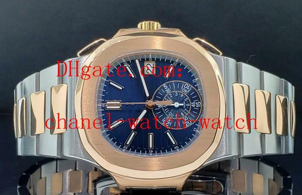 Men automatic mechanical watch nautilu ref 5980 1ar 001 teel 18k ro e gold blue dial men port watche