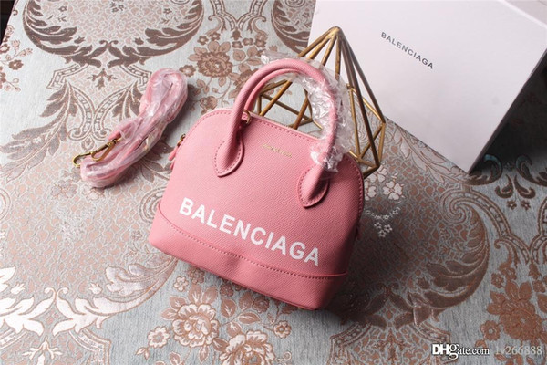 Мини-леди Shell Bag Fashion Luxury Авангардная кожаная женская дизайнерская сумка Розовый С