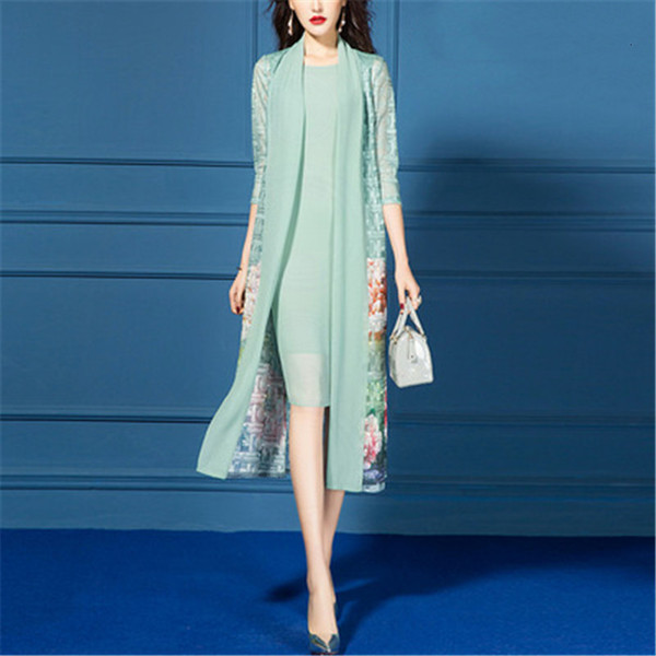 Mother Of The Bride Dresses Suit Long Sleeve Jacket 2020 New Arrival Formal Wedding Party Groom Mom Guest Wear Chiffon Plus Size