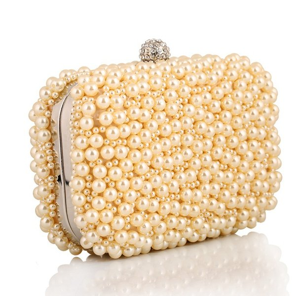 2019 handmade pearl crystal small chain shoulder bags party wedding party evening bags ladies clutches purses and handbags (510051134) photo