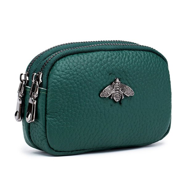 2020 spring new small purse leather cute female coin bag double zipper new coin purse mini foreign trade coin bag (545690650) photo