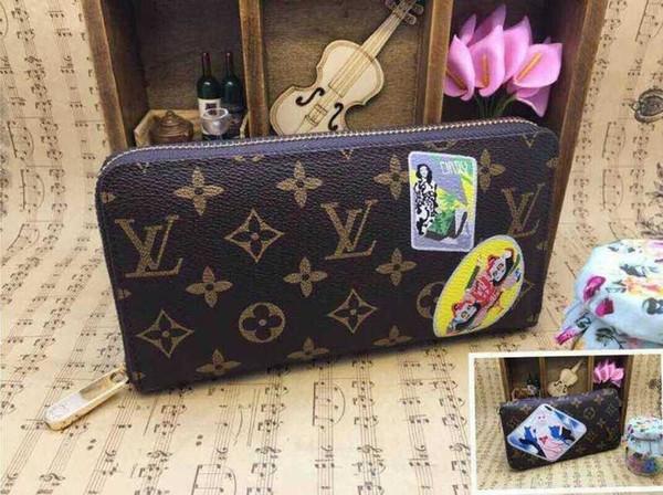 2019 new fashion women brand long wallet zipper clutch purse card wallets purse mini clutches exotics evening chain belt bags (507783243) photo
