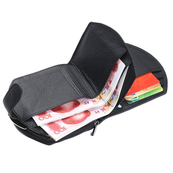 women short purse cow leather coin pouch zipper card holder billfold casual wallet ka-best (466237751) photo