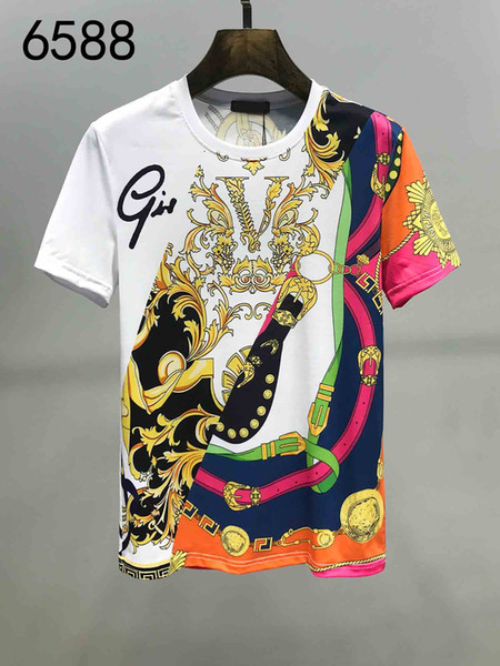 Summer T-shirt Men's Tops Old Printed Letter Embroidered T-Shirt Men's Short Sleeve T-Shirt Fashion Top S-3XL