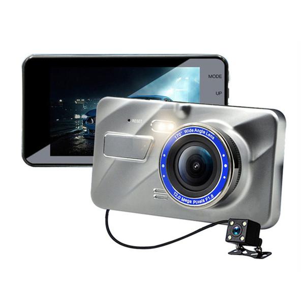 Полный HD автомобильный видеорегистратор 2-канальный фронт 170° задняя 120° 1080p автомобильный приборной панели видеокамеры с WDR G-сенсор запись петли парковка монитор автомобильный видеорегистратор видео рекордер фото