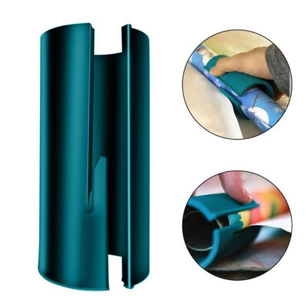 mini sliding wrapping paper cutter schnelle sekunden wrap paper schneidewerkzeuge christmas craft für jede rollengröße (480759538) photo