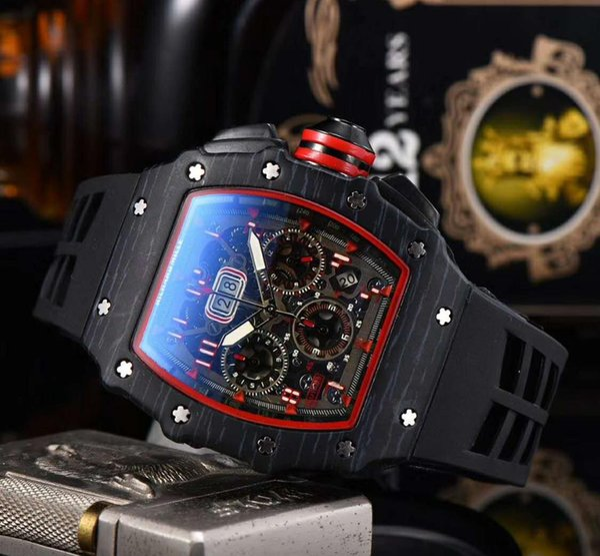Fashion limited men's watches quartz chronograph men's watch rubber strap sports men watch men's watches фото