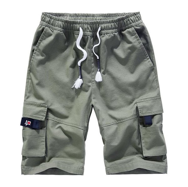 Мужских летнего прилив бренд хлопок оснастка шорт мужских пятиточечные штаны потерять большого размера случайных штаны шорт в Европе и США 2020 фото