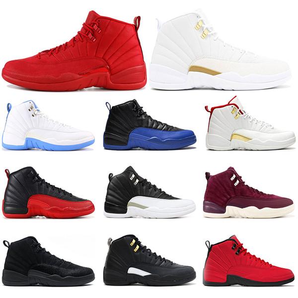 Горячая распродажа мужские ботинки баскетбола 12С игре Royal спортзал красный o Белы