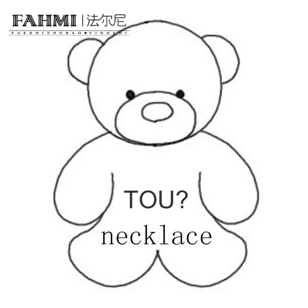 FAHMI 100% 925 Sterling Silver New 1:1 High Quality Classic Cute Bear Necklace Women's Necklace Gift Free Shipping Wholesale TOU