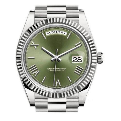 Автоматическое движение мужские часы 41MM Diamond Dial DAY DATE Сапфировое стекло Top V3 из нер фото