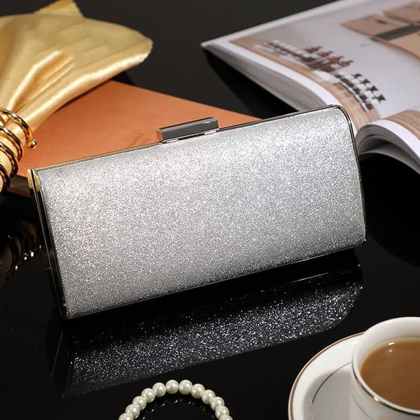 women fashion evening handbag metal frame shining sequin cloth sparking clutch purse crossbody shoulder bag lady girl party bag (541921793) photo