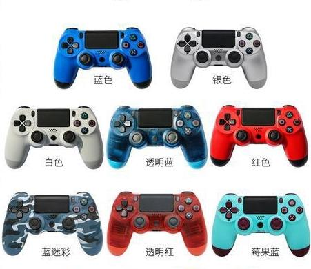 Bluetooth wirele p 4 controller for p 4 vibration joy tick gamepad p 4 game controller for ony play tation with retail box dhl