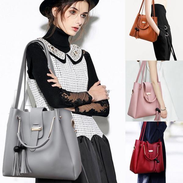 3pcs woman bag set fashion female purse and handbag four-piece shoulder bag tote messenger purse drop shipping (526186717) photo