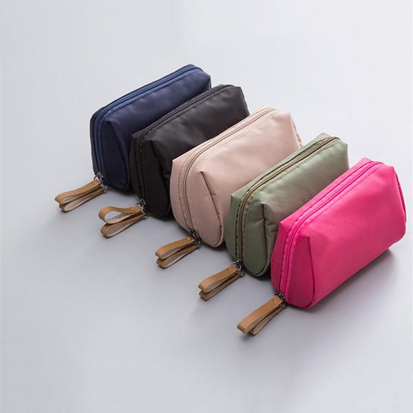 Мини водонепроницаемый сумки макияж сумки портативный путешествия сумка для хранения простые косметические сумки для женщин 5 цветов смешанные фото