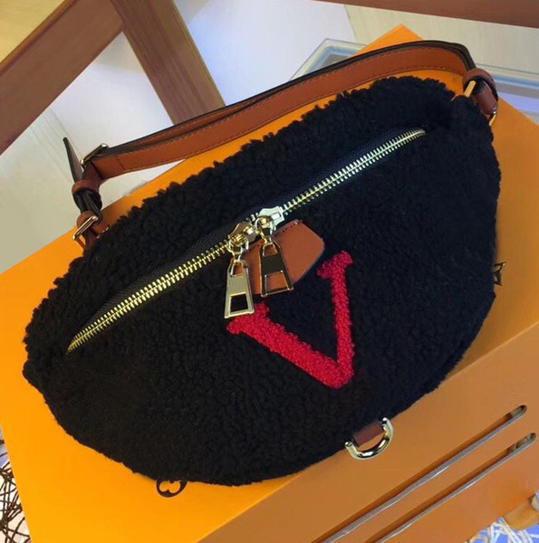 bumbag fannypack design luxury purse bag l flower m55425 tedy lambswool waist belt bag fashion purse (513982891) photo