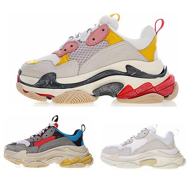 chaussures balenciaga  Новые Тройные Туфли Мужские и Женские Кеды Смешанные Цвета Толстый К