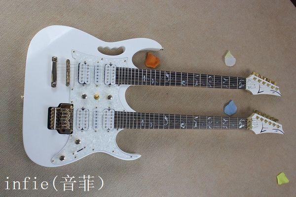 Double neck jem 7v floyd ro e vibrato double neck electric guitar white 6 6 tring 7v guitar