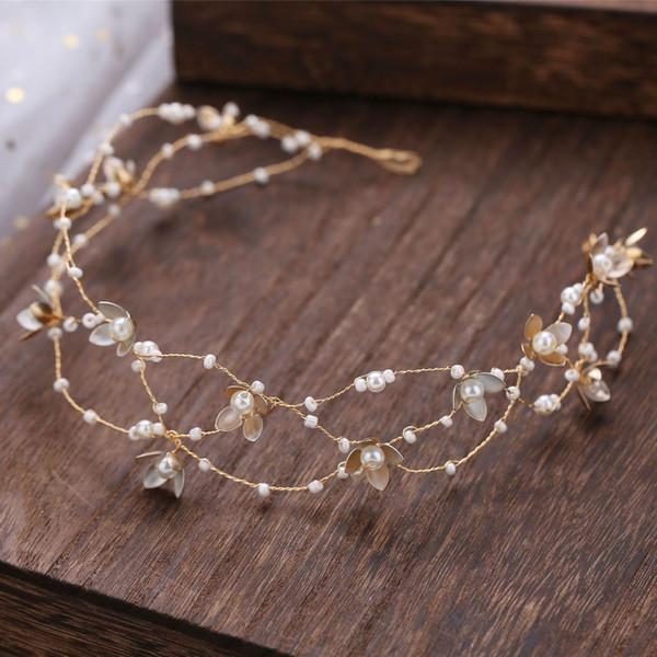 Leaf Design Gold Hairband for Women