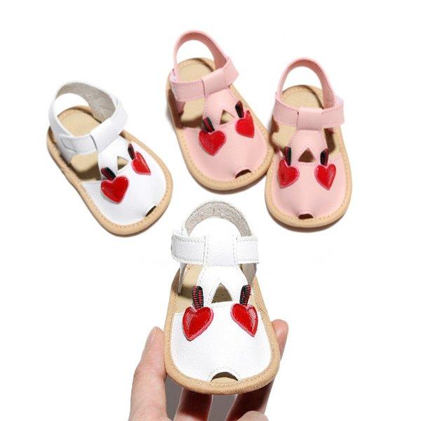 1 Pair Children Baby Kids Boys Girls Shoes Non-Slip PU Cartoon Cherry Toddlers Newborn Infantil Hard Sole Sandals