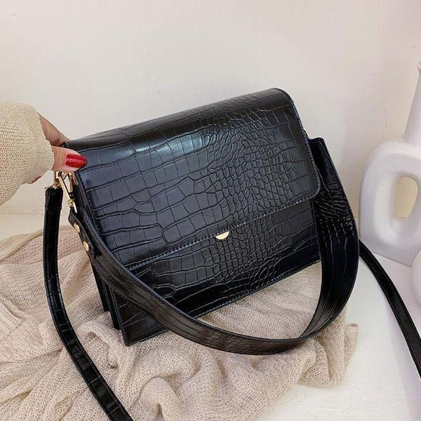 new women bag stone pattern shoulder small flap crossbody bags messenger bag for girl handbag ladies phone purse bolso mujer (520392456) photo