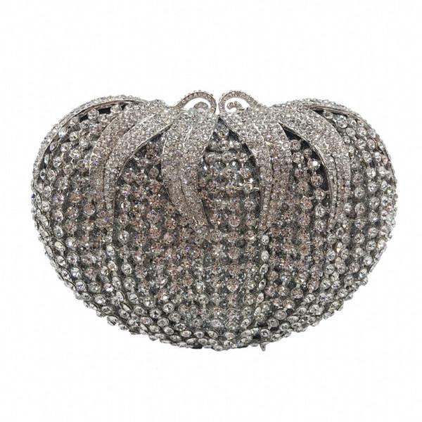 ladies bridal wedding party purses elegant purses women evening party handbag wallet luxury diamonds flower crystal clutches (549406427) photo