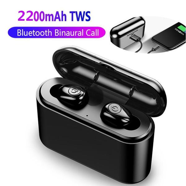 X8  bluetooth v5 0 true wirele   earbud  5d  tereo bluetooth earphone  mini tw  waterproof headfree  with charging box 2200mah power bank