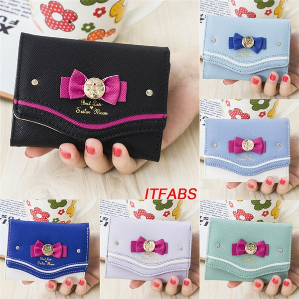 us fashion mini women's bows wallet card holder clutch coin purse leather handbag purse (511485412) photo