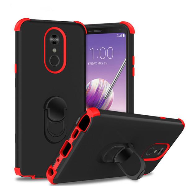 Kick tand armor back mobile phone triple combo ca e for coolpad legacy full body rugged ca e for moto e6  mart phone ca e a