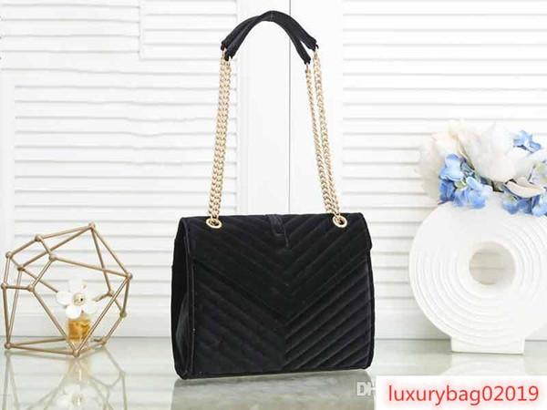 designer luxury handbag purse y purse velvet women chain shoulder strap designer bags loulou purse bag (514308768) photo
