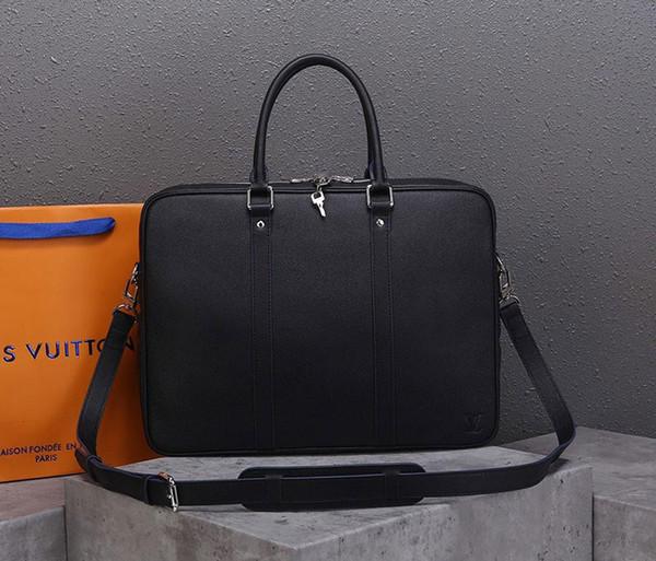 luxury briefcase designer handbags real leather men business handbag purse genuine leather luxury purse handbag (547886407) photo