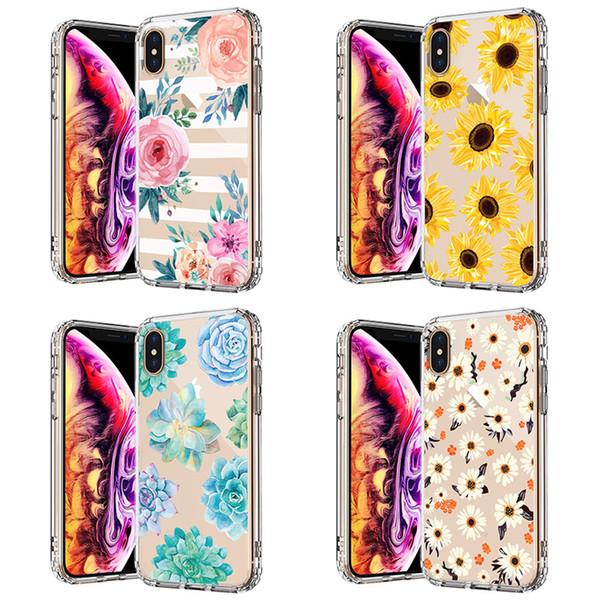 Для iPhone X XS Макс 7 7 Плюс 6 S 6 Плюс 8 8 Плюс Милый цветок фрукты Мультфильм Мягкий ТПУ п