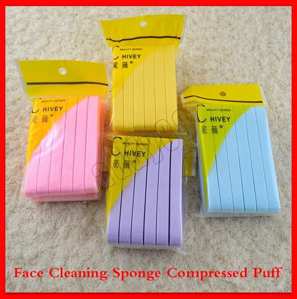 2019 New Face Makeup Soft Сжатый Puff лица губкой для очистки лица Wash для очистки Pad Exfoliator Косме фото