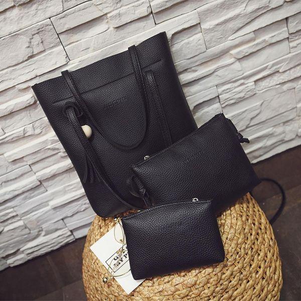 3pcs woman bag set fashion female purse and handbag four-piece shoulder bag tote messenger purse ing (502271729) photo