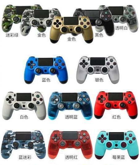 Bluetooth wirele p 4 controller for p 4 vibration joy tick gamepad p 4 game controller for ony play tation with retail box dhl for free