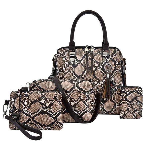 composite ladies hand bags woman bag female handbag tote bag set woman messenger shoulder lady purse day clutch hand set (519225583) photo