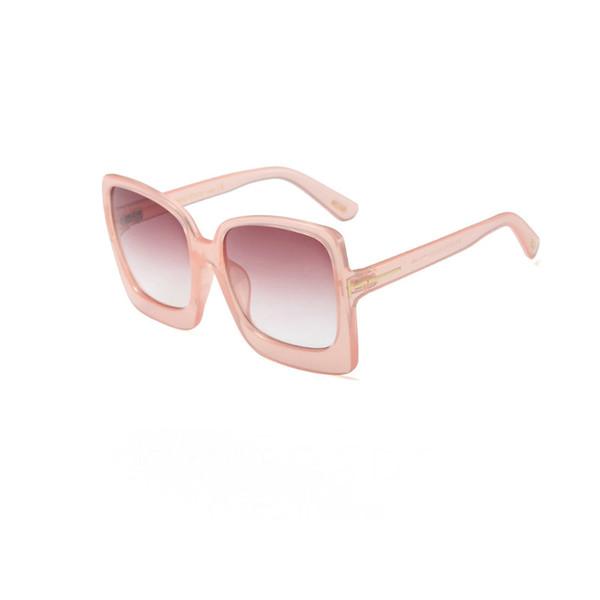 2019 Новые моды Большие очки для Человек Женщина очки Том Дизайнерские площади Солнцезащитные очки UV400 брода Объективы Trend с коробкой Солнечные очки TF1872 фото