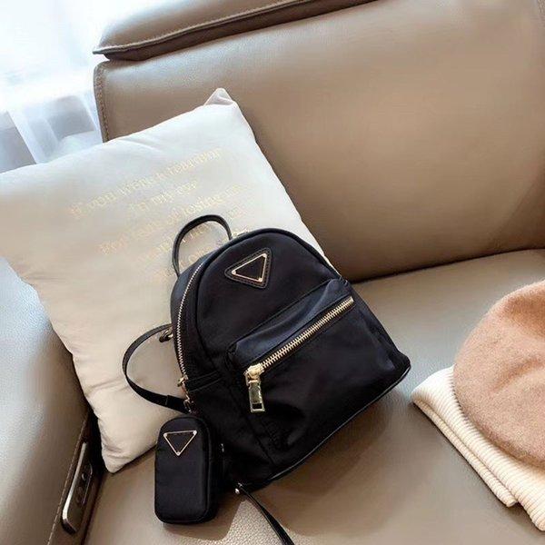 womens backpacks nylon backpack back pack bag two piece bag backpack purse small purse bag (540148580) photo