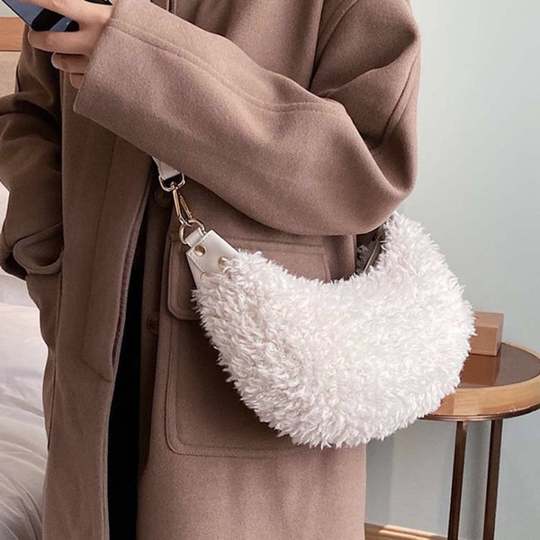 women furry purse hobo crossbody bag for ladies shoulder bag in autumn and winter (507317153) photo
