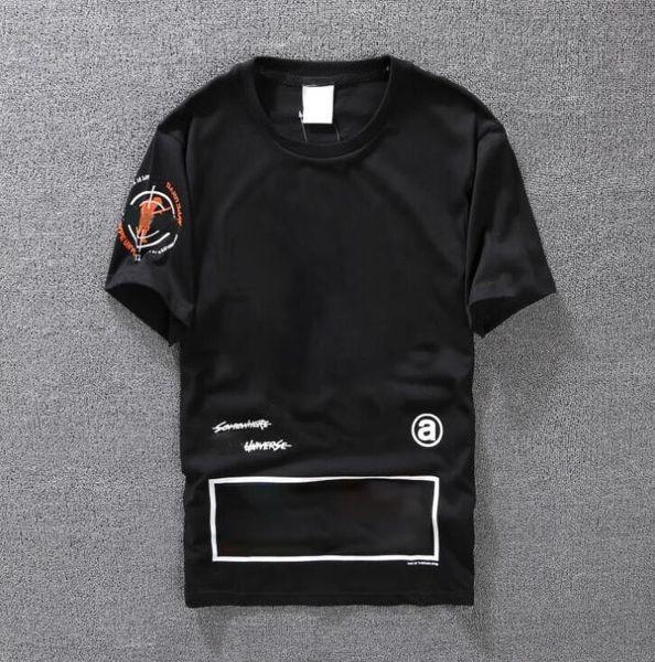 Casual T-shirt Mens Clothing Summer Designer Shirt Black White Orange Size S-XXL Cotton Blend Crew Neck Short Sleeve Cartoon Print