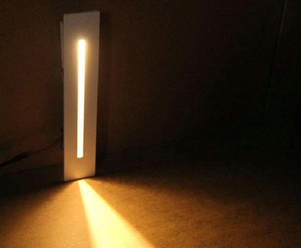 Встраиваемый 3W LED лестничные Light Прямоугольник AC100-240V Крытый под стены Бра освещен фото