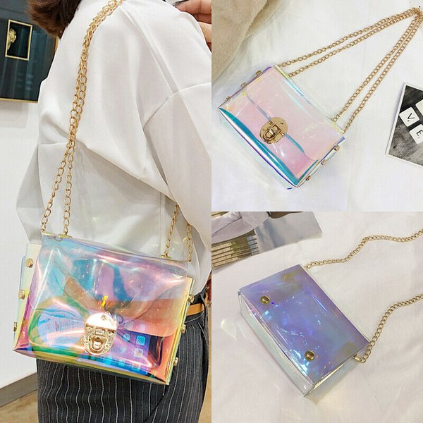 women holographic bag clear transparent small hologram handbag purse crossbody (528893496) photo