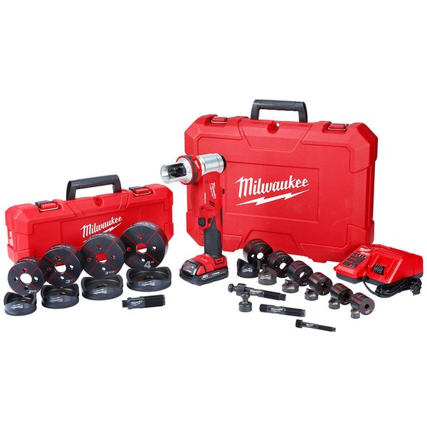Milwaukee 2677 23 18 volt 4 inch 6 ton m18 forcelogic knockout tool kit