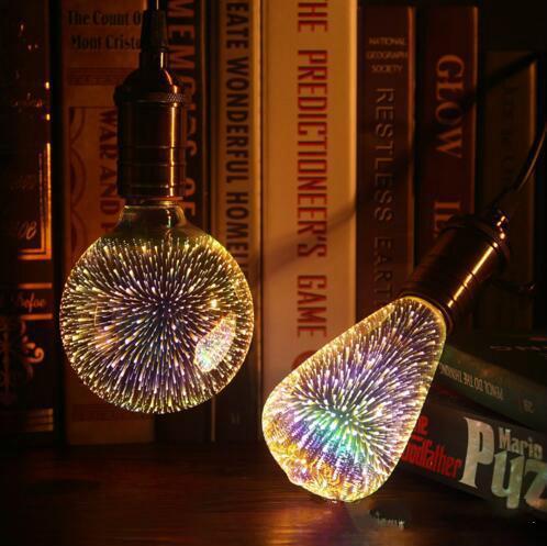 Рождественские украшения стекла феиэрверка 3D, лампа st64 лампа интерьер украшение фото
