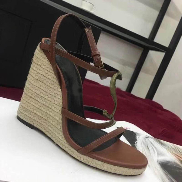 2019New Luxury Fashion сандалии на танкетке Дизайнерская обувь Женская дизайнерская обувь фото
