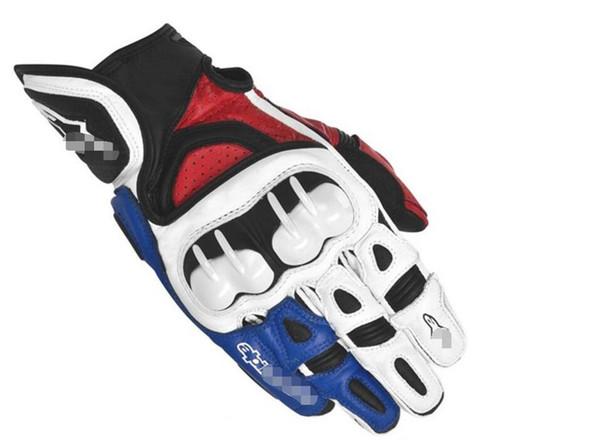 Motogp Star гонка езда перчатка Локомотив перчатка из углеродного волокна кожи Открыт фото