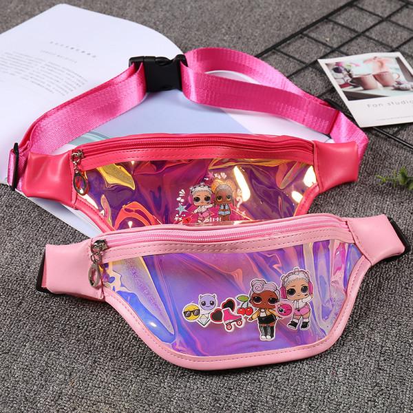 8.7inch girl outdoor bag cartoon doll sequins coin purse zipper kids coin bag sling money card fashionable girl waist purse zx03 (509376374) photo