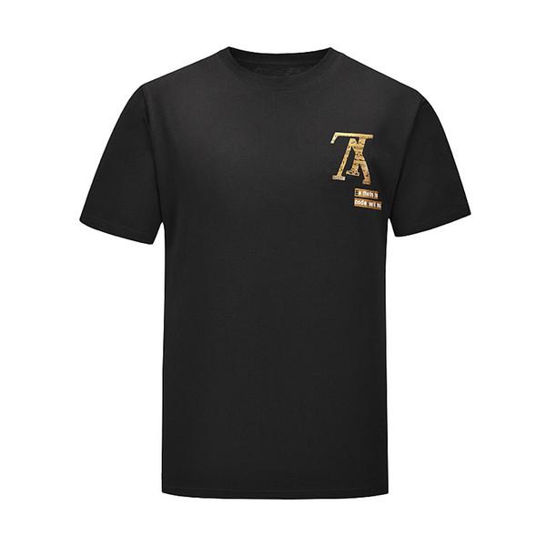 Модные футболки для мужчин Хлопковые футболки Мужская одежда Футболка с круглым фото