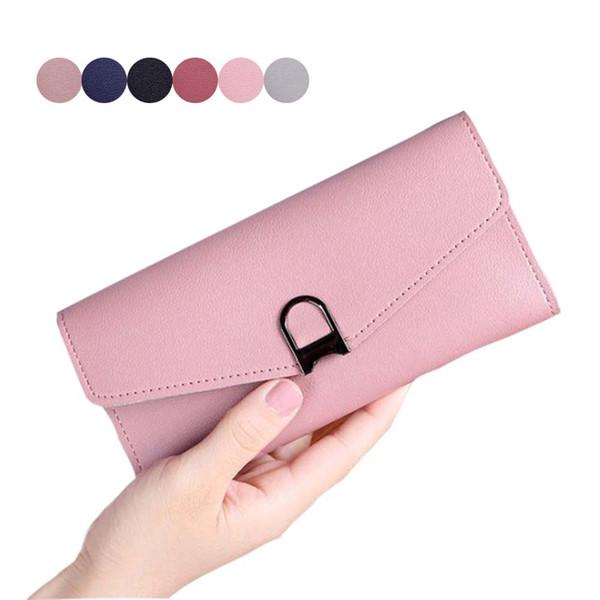 women pu leather purse clutch wallet long card holder phone handbag ka-best (466237667) photo